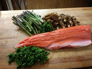 King Salmon with Fiddleheads