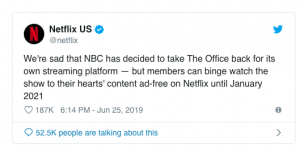 netflix is loosing the office